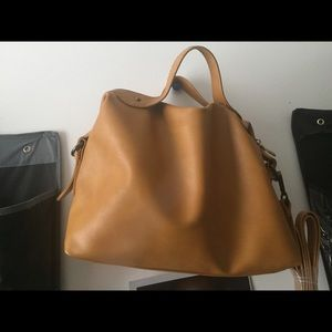 Handbags - NWT Mustard colored satchel